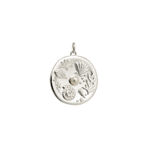 Silver By The Sea Coin Charm