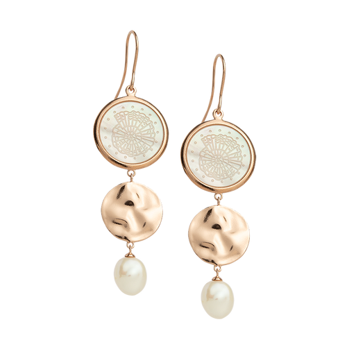 Rose Gold Plated By The Sea Earring