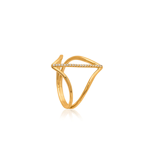 9ct Yellow Gold Alexa Diamond Ring