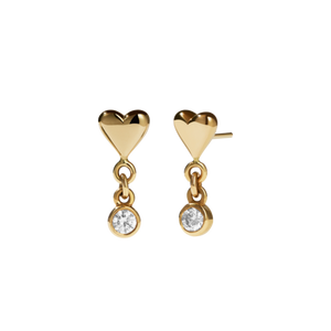 9ct Yellow Gold Camille Stud Earrings - Diamond