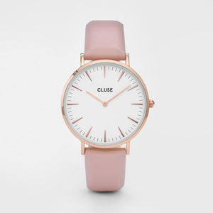 La Boheme Rose Gold Colour / White and Pink Watch