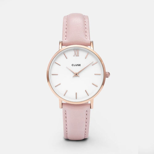 Minuit Rose Gold Colour / White and Pink Watch