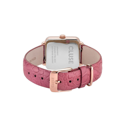La Tetragone Rose Gold White / Soft Berry Alligator