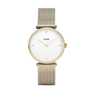 Triomphe Gold Bicolor Mesh Watch