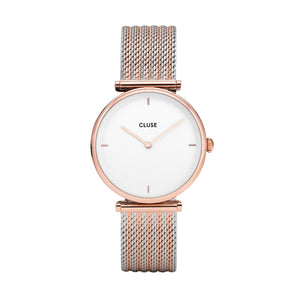 Triomphe Rose Gold Bicolor Mesh Watch