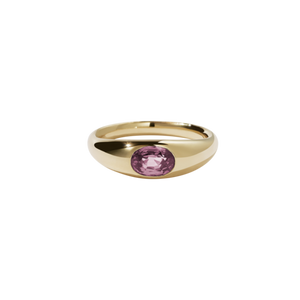Gold Plated Claude Ring - Pink Tourmaline