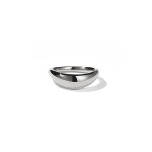 18ct White Gold Claude Band Plain