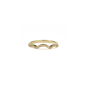 18ct Yellow Gold Clementine Band Pave w White Dia