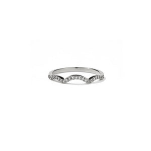 9ct White Gold Clementine Band Pave w White Dia