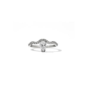 9ct White Gold Clementine Ring w White Dia