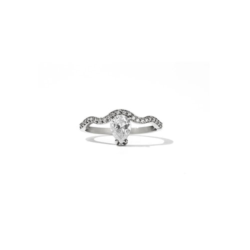 18ct White Gold Clementine Ring w White Dia