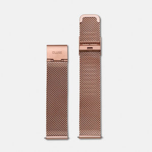 18mm Mesh Rose Gold Strap
