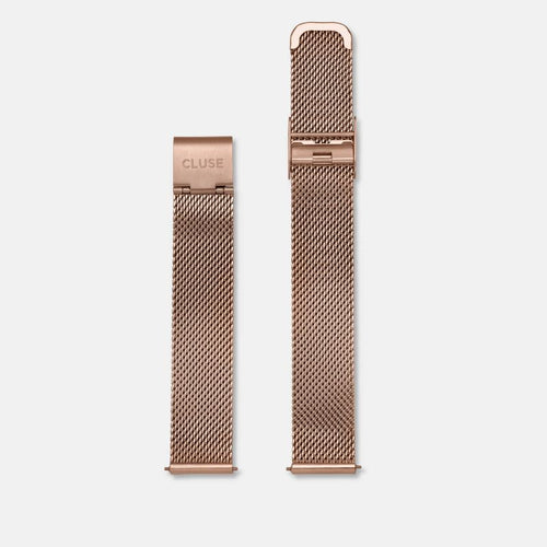 Minuit Mesh Rose Gold Colour Strap