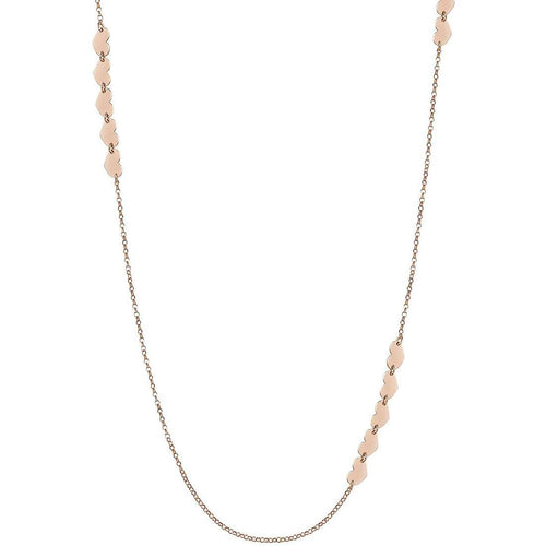 Rose Gold Plated Armonie Long Heart Necklace