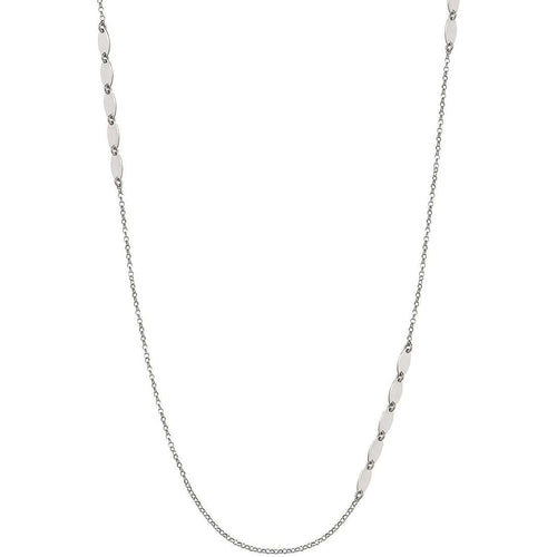 Silver Armonie Long Oval Necklace