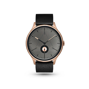 Architect Rose Gold/Black Leather Watch