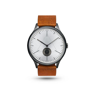 Architect Gunmetal/Brown Leather Watch