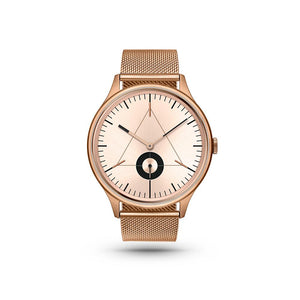 Architect Rose Gold/Stainless Steel Milanese Watch