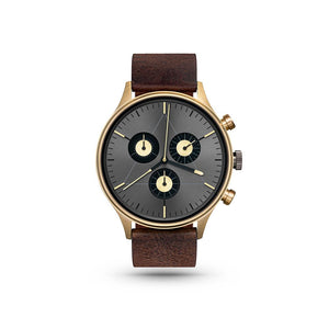 Engineer Gold/Dark Brown Leather Watch