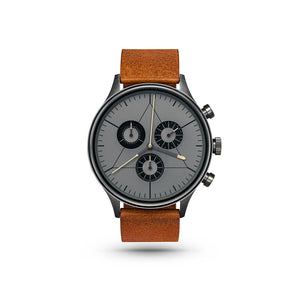 Engineer Gunmetal/Brown Leather Watch