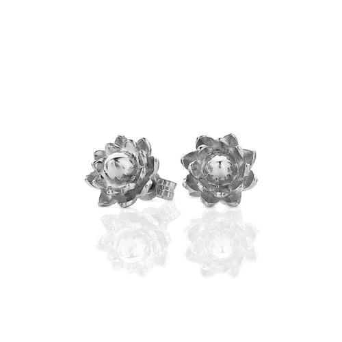 Silver Protea Stud Earrings
