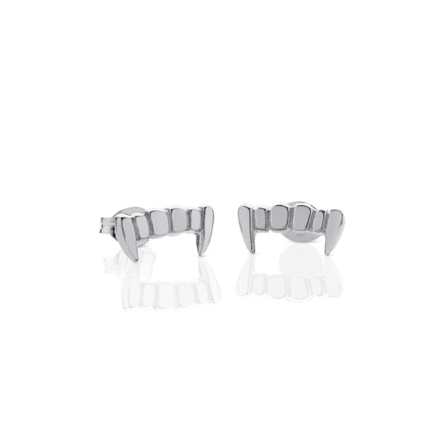 Silver Fang Studs