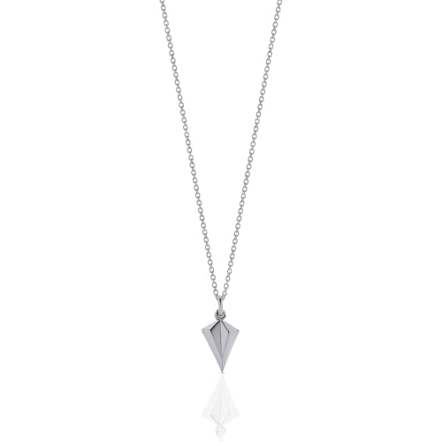 Silver Faceted Charm Necklace