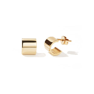 Gold Plated Cuff Stud Earrings