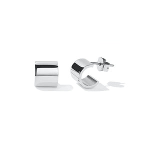 Silver Cuff Stud Earrings