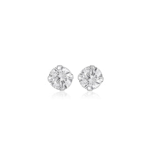 Silver 5mm Medium Round Cubic Zirconia Studs