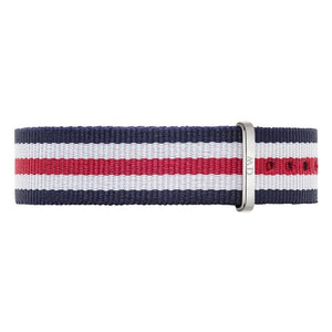 Nato Strap Canterbury Silver Watch 18mm Strap