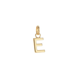 Gold Plate Outline Initial - E