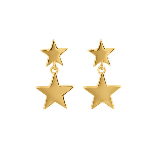 Gold Plated Stardust Earrings