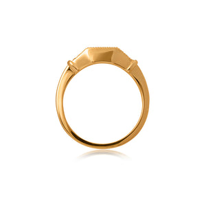 18ct Yellow Gold Kara Diamond Band