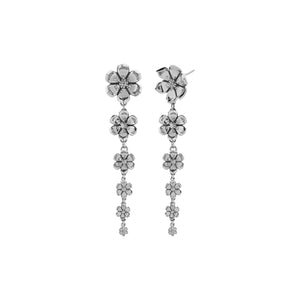 Silver Eden Drop Earrings - Pair