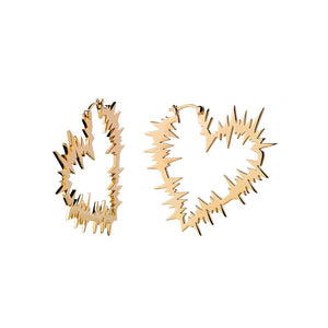 Gold Plated Electric Heart Earrings