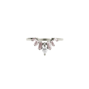 9ct White Gold Morganite Diamond Etta Ring