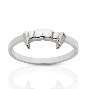 Silver Fang Stacker Ring