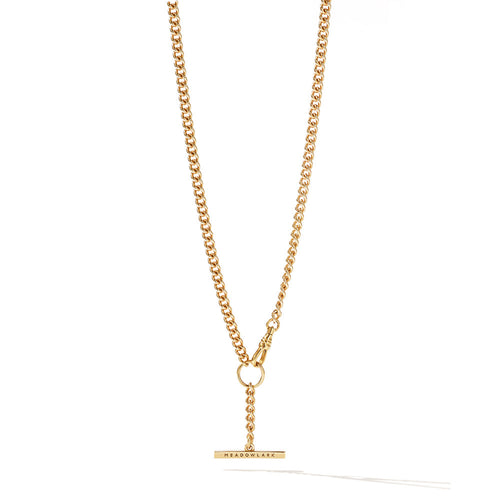 Gold Plated Fob Chain Necklace