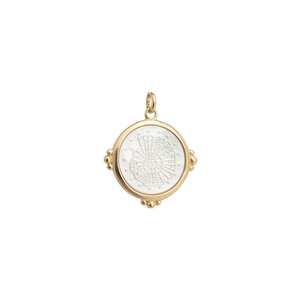 Gold Plated Fossil Shell Charm