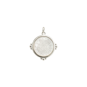 Silver Fossil Shell Charm