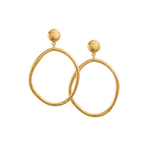 Gold Plated Golden Light Earring Set