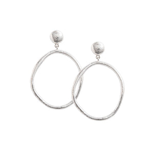 Silver Golden Light Earring Set