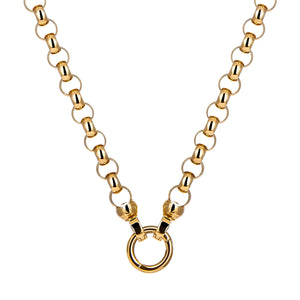 18ct Gold Plated Steel Me Necklace 49cm