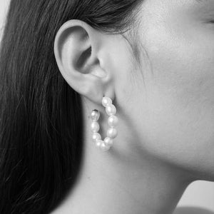 Silver Juliet Hoop Earrings
