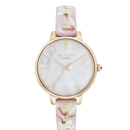Kate Pink Floral Strap Watch