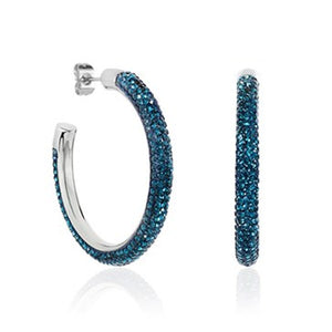 Indigo Grande Dazzle Medium Hoops