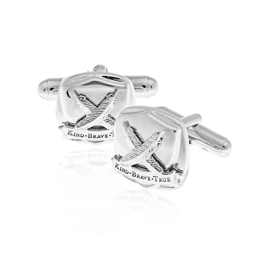 Silver Gentlemens Club Cufflinks