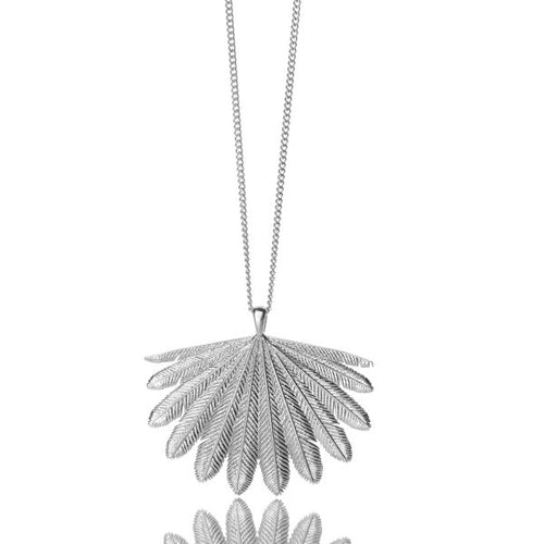 Silver Fan Tail Necklace