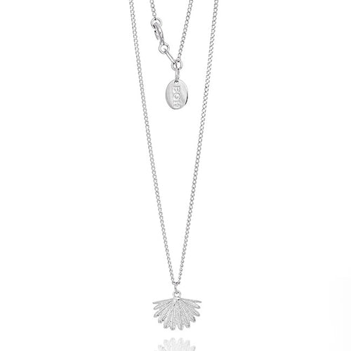 Silver Mini Fan Tail Necklace